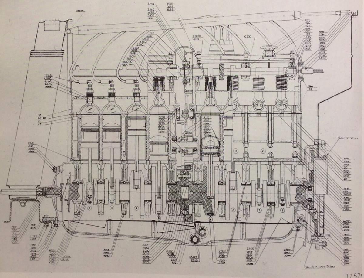 ALFA ROMEO 8C 2300 ENGINE MODEL - 1/4th SCALE-alfa-romeo-8c-2300-engine-section-jpg