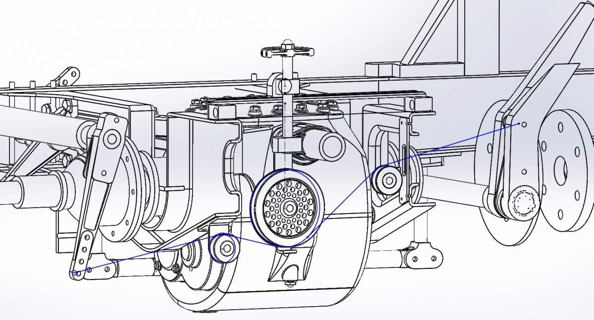 1/12 Birkin Blower Bentley single seater-brake-cable-path-jpg