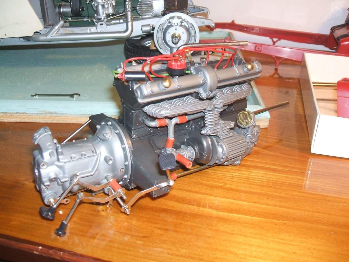 Alfa Monza 1/8 brass rolling chassis ( base Pocher )-6-jpg