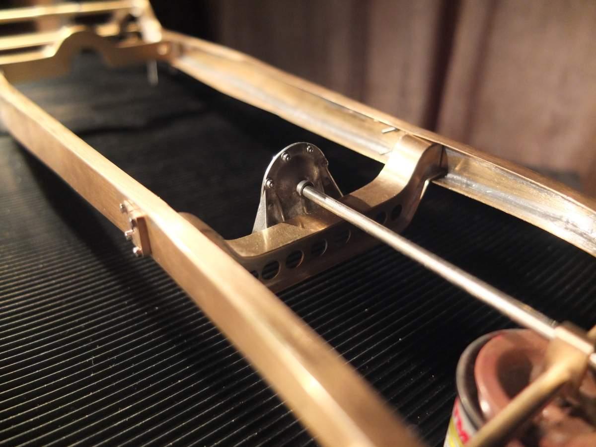 Alfa Monza 1/8 brass rolling chassis ( base Pocher )-dscf7482-jpg