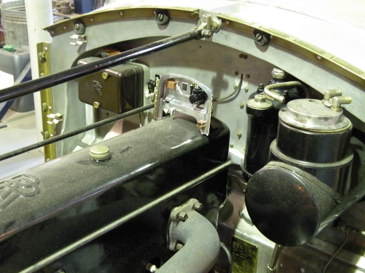 Pocher Rolls Royce scratchbuilt chassis-firewall-jpg