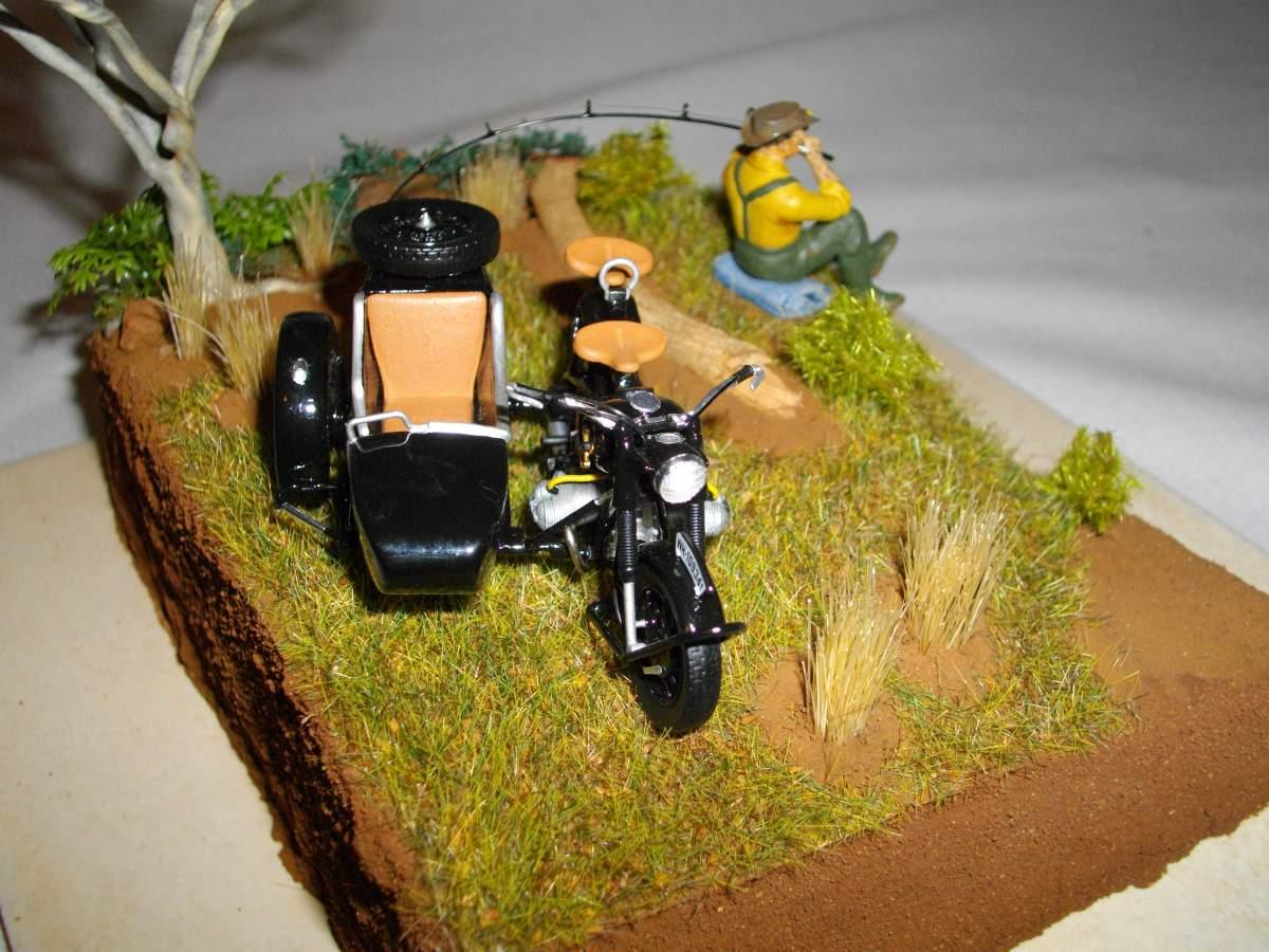 BMW with sidecar.-bike-car-diorama-finished-016-jpg