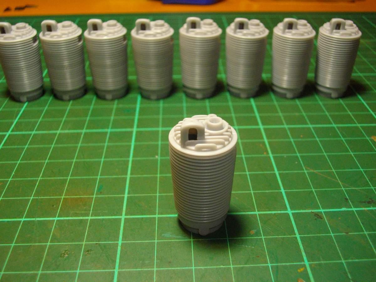 Clerget 9B Rotary Engine. 1/8th. Hasagawa.-9-cylinders-004-jpg