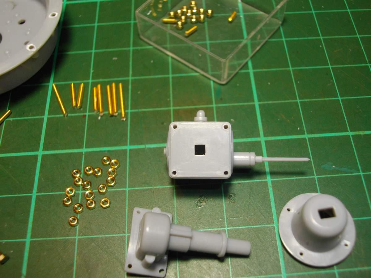 Clerget 9B Rotary Engine. 1/8th. Hasagawa.-preparing-nuts-bolts-003-jpg