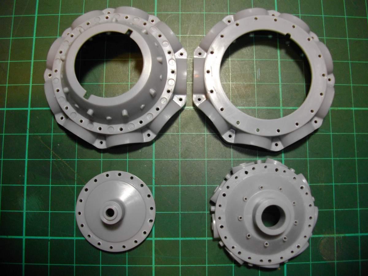 Clerget 9B Rotary Engine. 1/8th. Hasagawa.-crank-005-jpg
