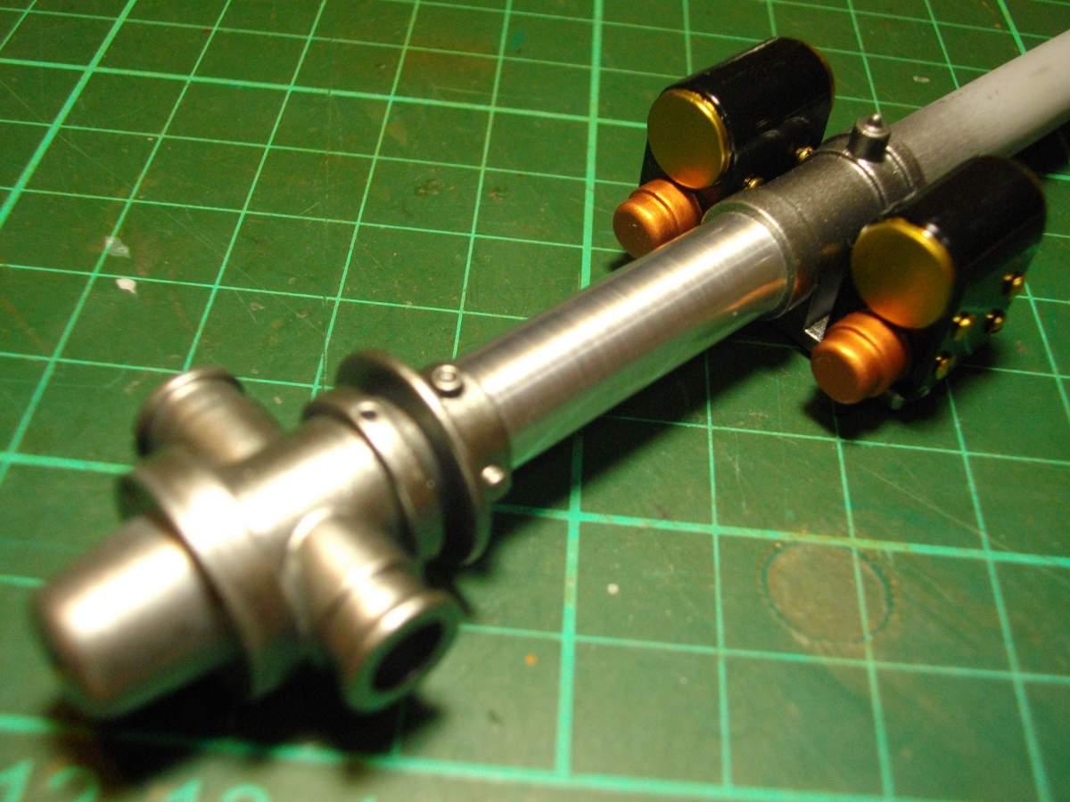 Clerget 9B Rotary Engine. 1/8th. Hasagawa.-magnetos-mounted-main-shaft-007-jpg