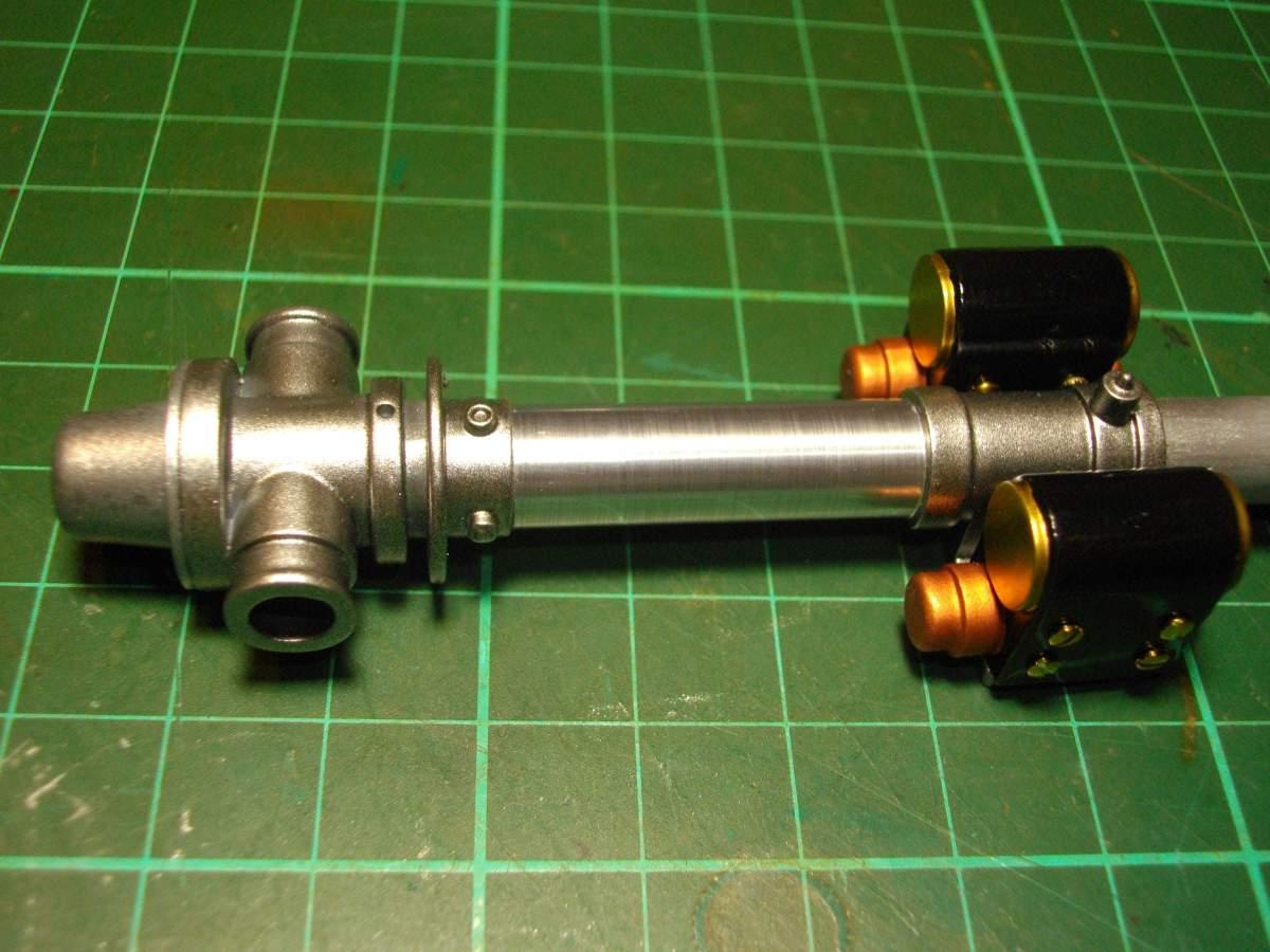 Clerget 9B Rotary Engine. 1/8th. Hasagawa.-magnetos-mounted-main-shaft-002-jpg