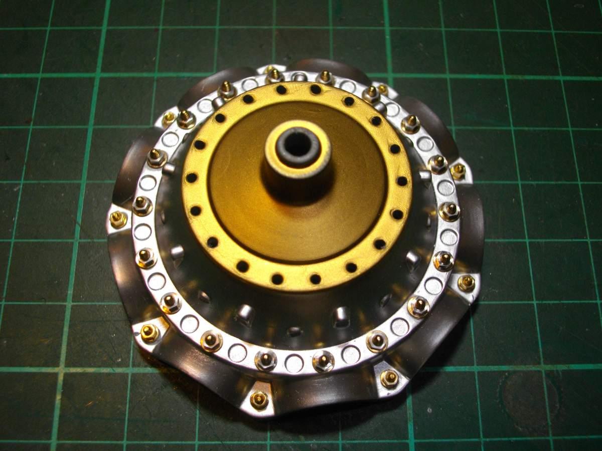 Clerget 9B Rotary Engine. 1/8th. Hasagawa.-crank-nuts-bolts-005-jpg