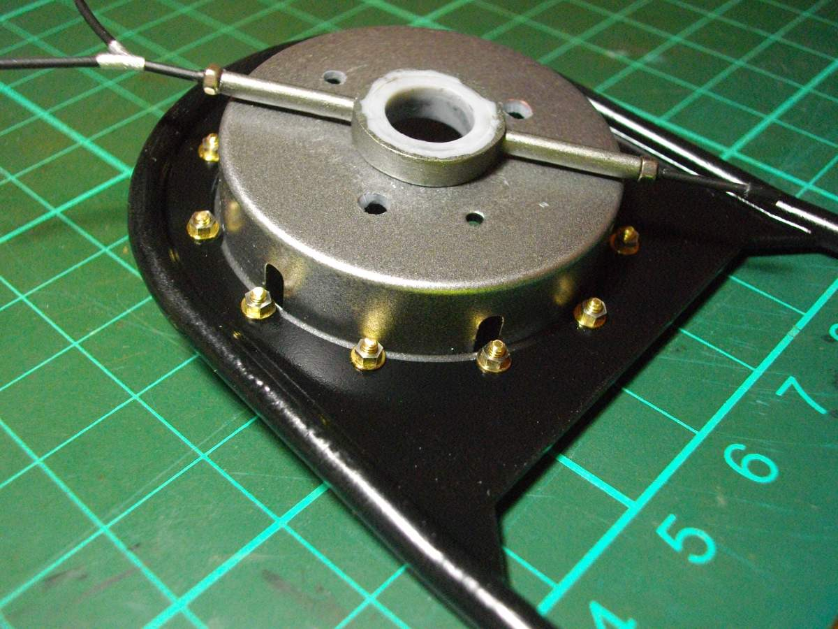 Clerget 9B Rotary Engine. 1/8th. Hasagawa.-bell-housing-bolted-stand-017-jpg