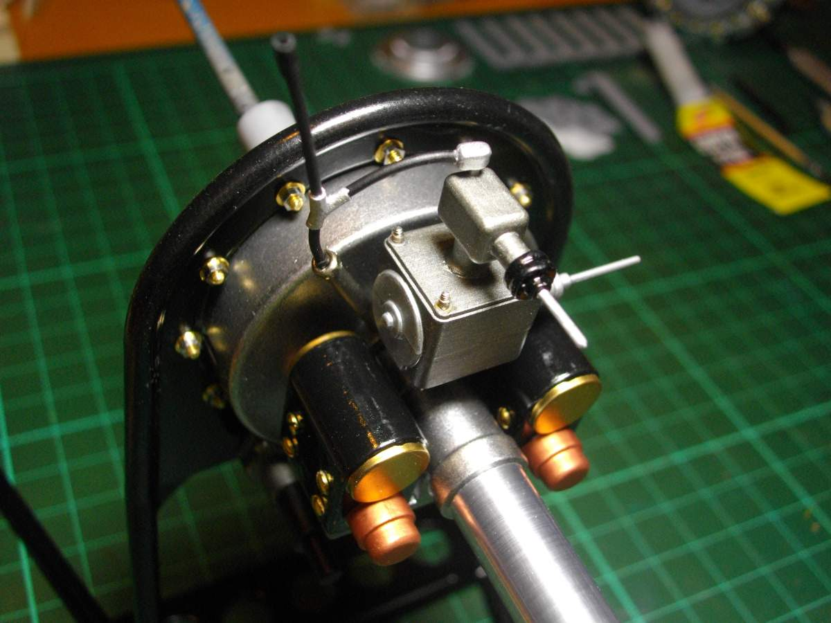 Clerget 9B Rotary Engine. 1/8th. Hasagawa.-rear-section-finished-010-jpg