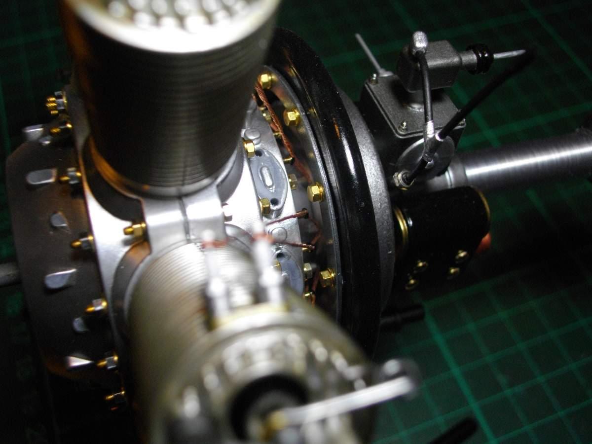 Clerget 9B Rotary Engine. 1/8th. Hasagawa.-time-stand-009-jpg