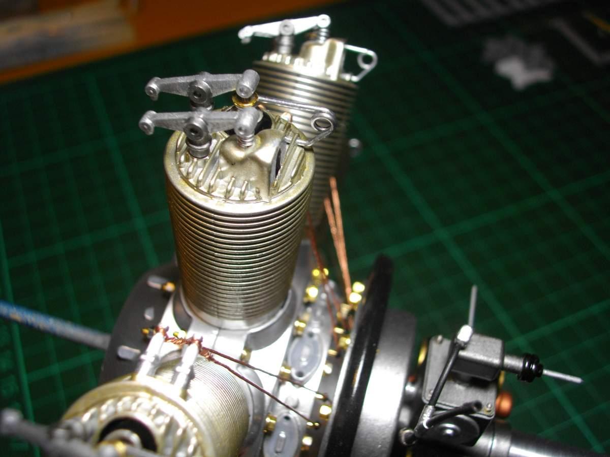 Clerget 9B Rotary Engine. 1/8th. Hasagawa.-time-stand-010-jpg