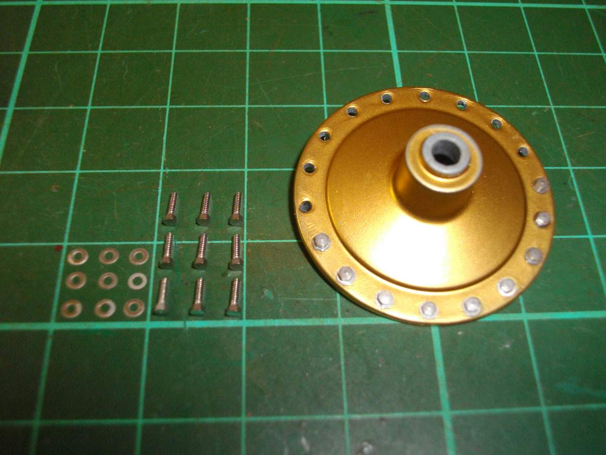 Clerget 9B Rotary Engine. 1/8th. Hasagawa.-front-cover-bolts-washers-001-jpg