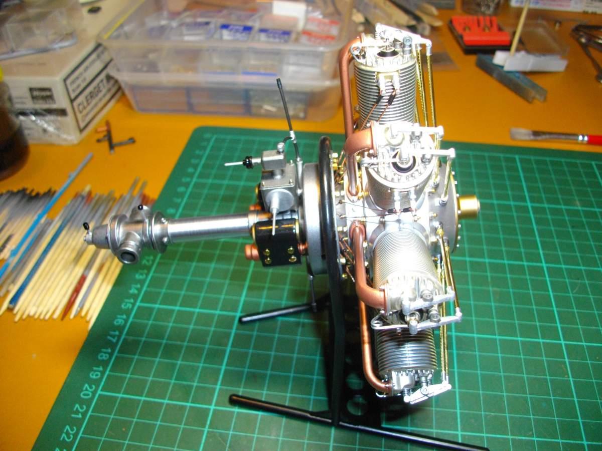 Clerget 9B Rotary Engine. 1/8th. Hasagawa.-finished-002-jpg