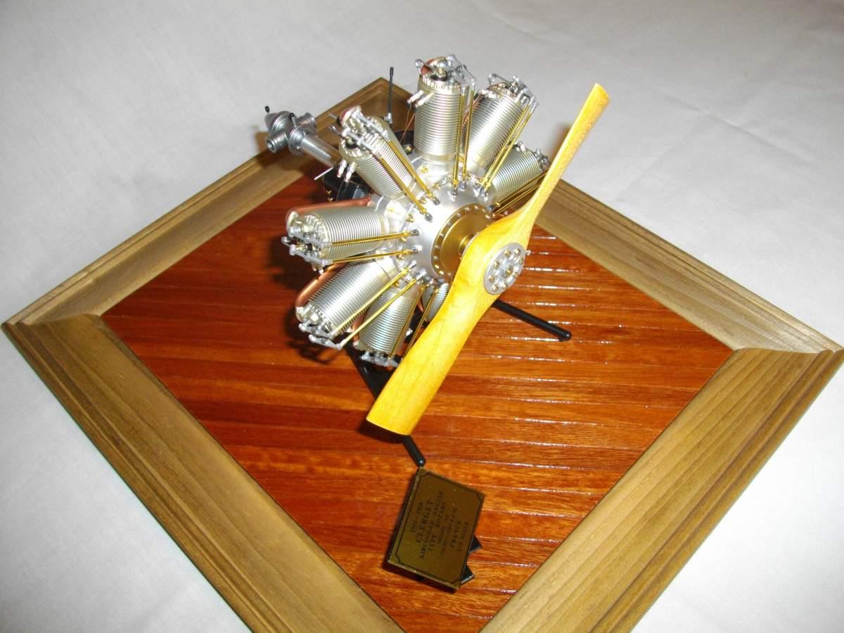 Clerget 9B Rotary Engine. 1/8th. Hasagawa.-engine-finished-007-jpg