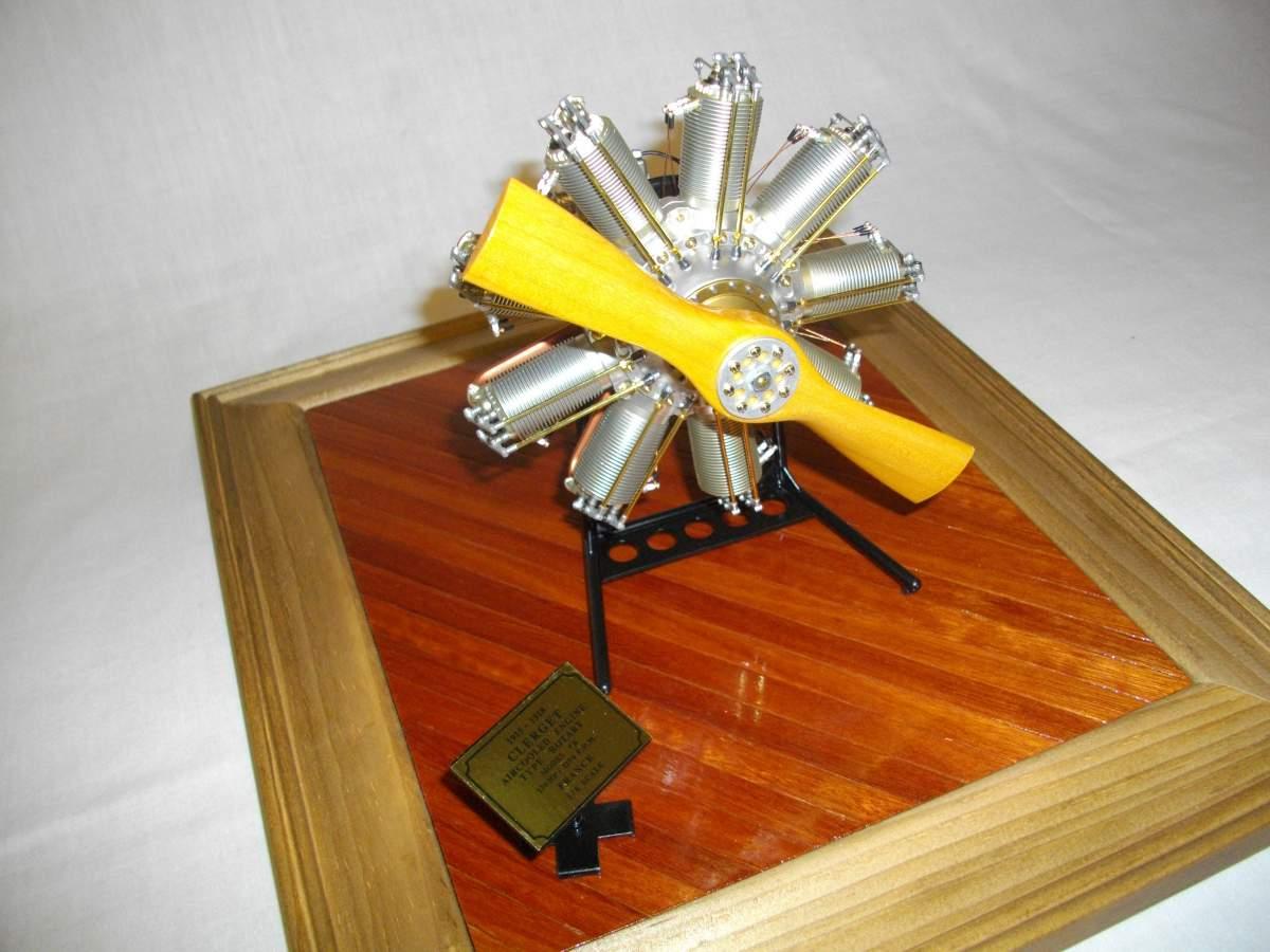 Clerget 9B Rotary Engine. 1/8th. Hasagawa.-engine-finished-017-jpg