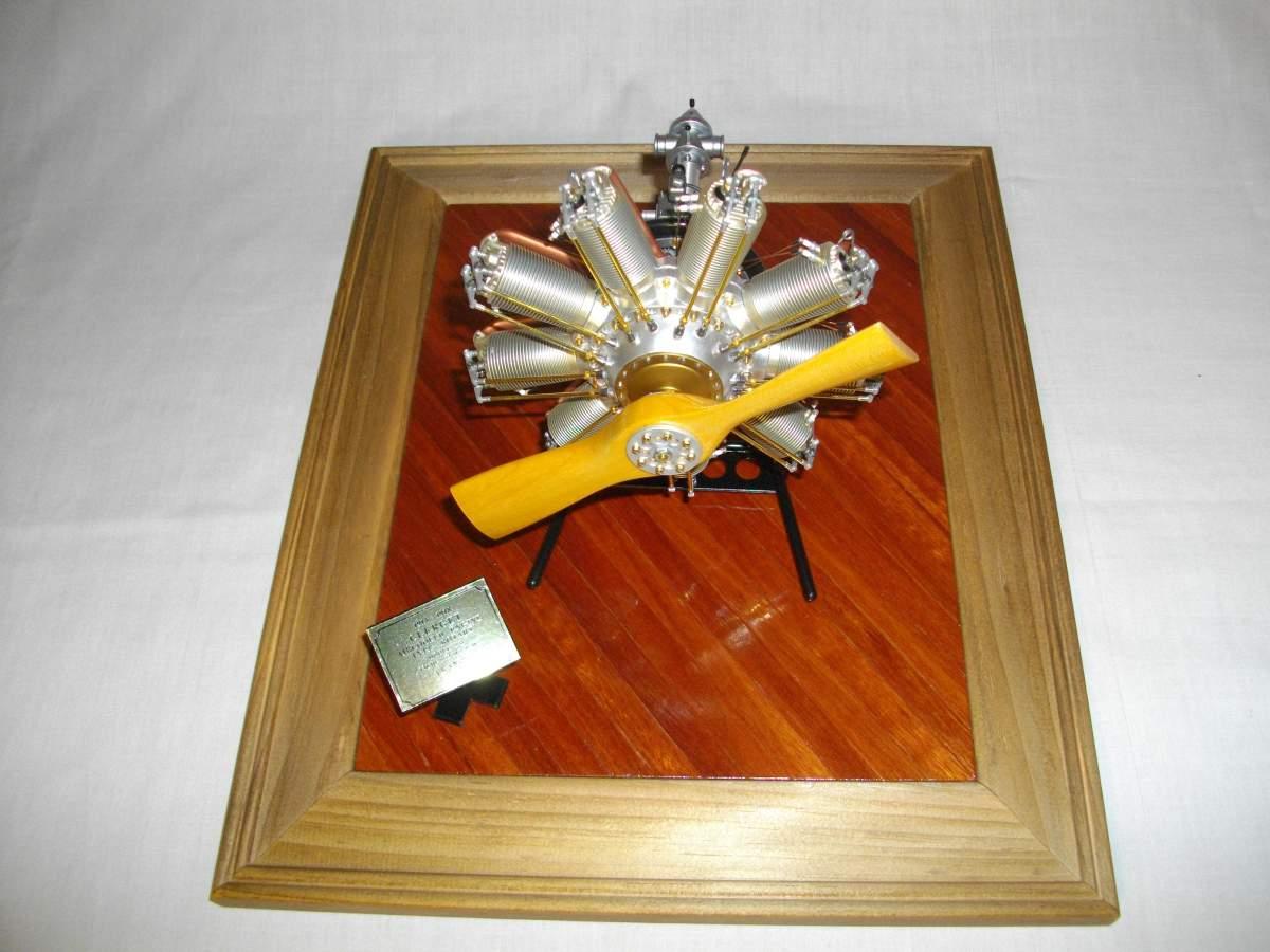 Clerget 9B Rotary Engine. 1/8th. Hasagawa.-engine-finished-009-jpg