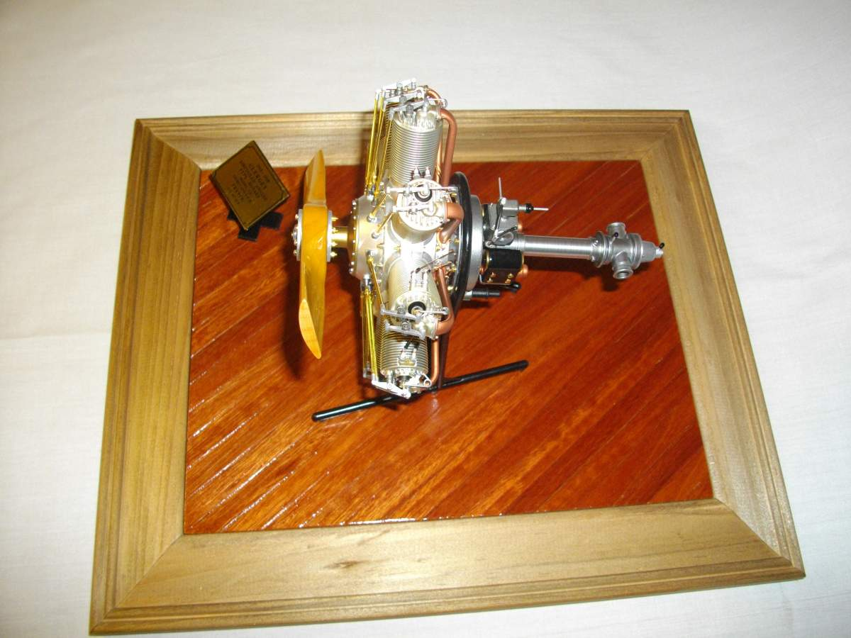 Clerget 9B Rotary Engine. 1/8th. Hasagawa.-engine-finished-005-jpg