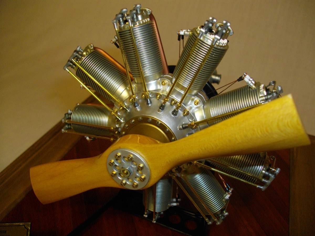Clerget 9B Rotary Engine. 1/8th. Hasagawa.-engine-finished-012-jpg