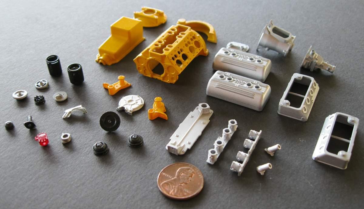 D Printed Model Car Parts