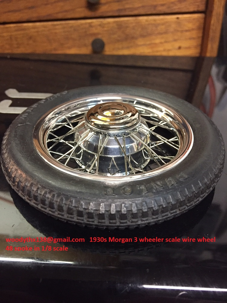 1930s Morgan 3 wheeler scale wire wheels in 1/8 scale-img_4814-jpg