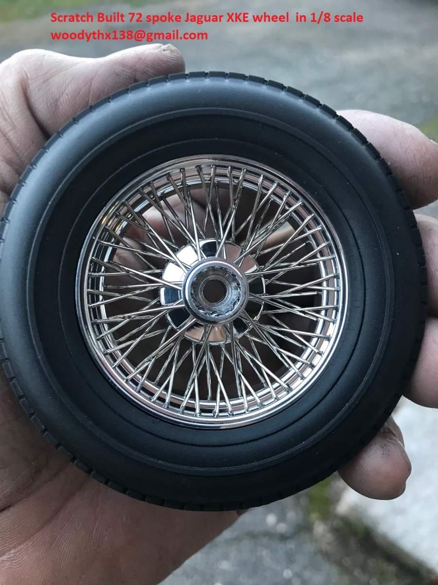 Scratch built Reverse laced 72 spoke Jag XKE wire wheel in 1/8 scale-img_0311-jpg