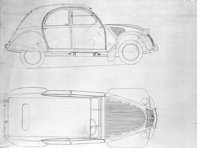 2CV CITROEN AZ 1956 build from scratch, Scale 1/6-2cv-drawing-1-jpg
