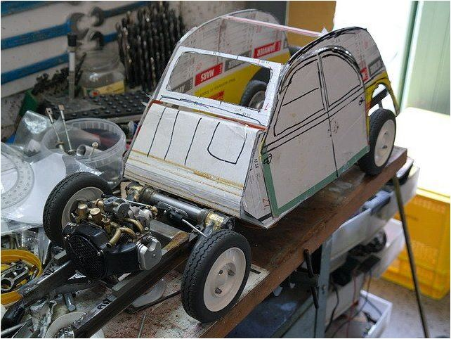 2CV CITROEN AZ 1956 build from scratch, Scale 1/6-6666-jpg