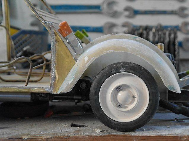 2CV CITROEN AZ 1956 build from scratch, Scale 1/6-5555-jpg