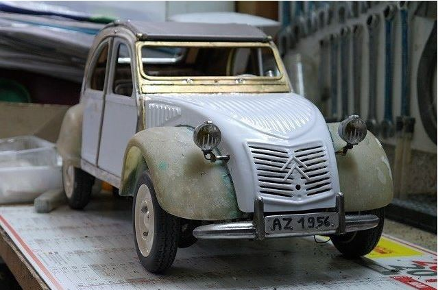 2CV CITROEN AZ 1956 build from scratch, Scale 1/6-4444-jpg