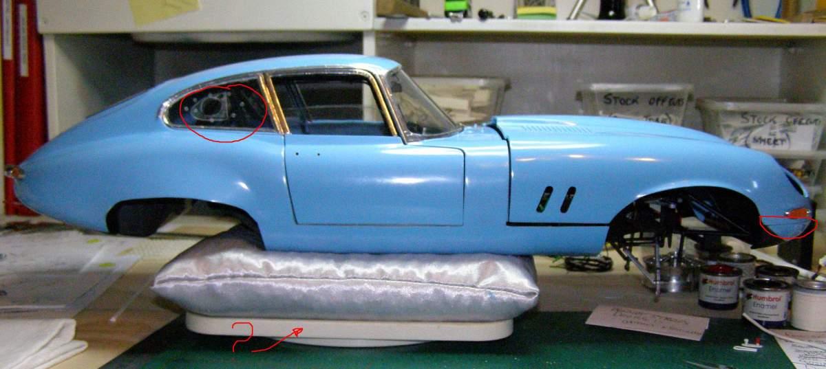 1964 Jaguar E-Type (XKE) 1/8 Monogram-10-getting-jpg