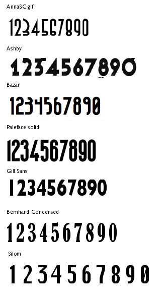 Aftermarket 1/20 Decals - Period Numerals for Alfa P3