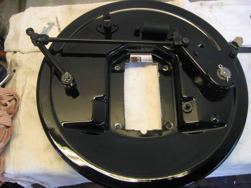 Restored original V-8 brake shield
