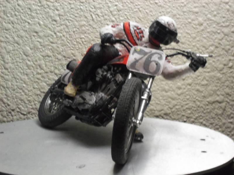 1/9 scale die cast Harley Davidson w/ scratch build rider