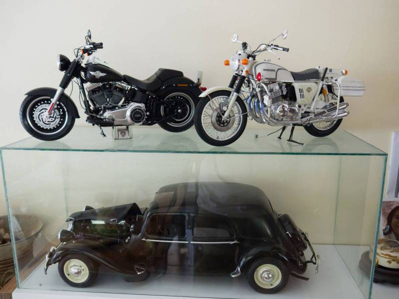 Tamiya Fatboy  and Honda police bike