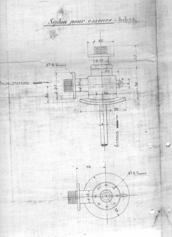 Blueprints of details of the Fiat 130 hp 1907 from the Archivio Storico. Co