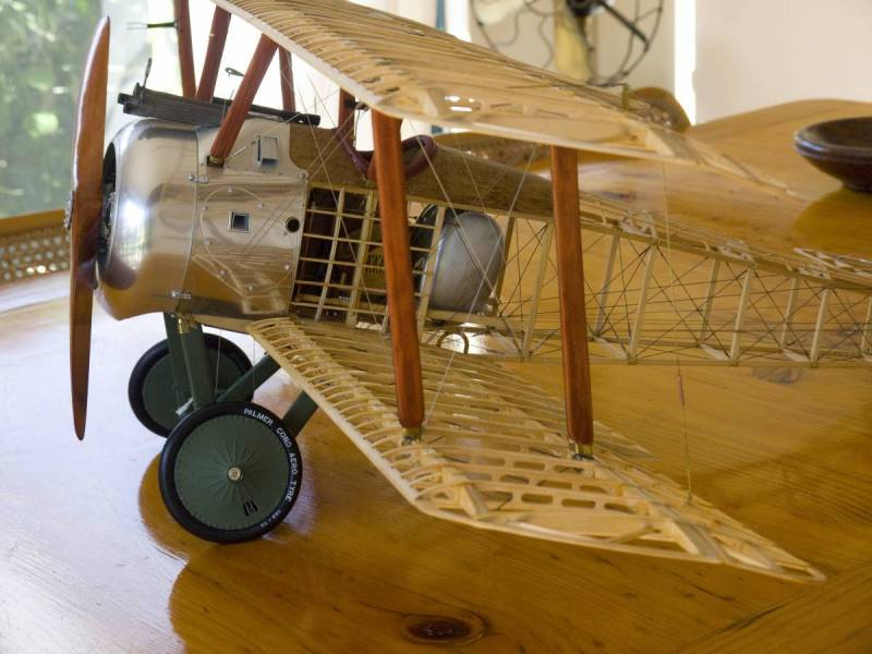 Completed Sopwith Camel,left wing