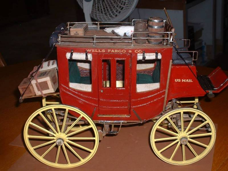 my second wooden /metal stagecoach